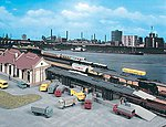 Freight Loading Platform Kit -- HO Scale Model Railroad Building -- #45716