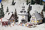 Christmas Village Kit -- N Scale Model Railroad Building -- #47613