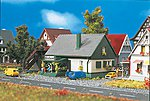 House w/Shop -- Z Scale Model Railroad Building -- #49571