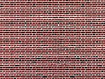 Stone Pattern Embossed Paper Red Brick (10) -- HO Scale Model Railroad Scratch Supply -- #6042