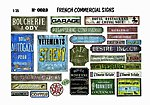 1/35 French Commercial Signs -- Diorama Book -- #0023