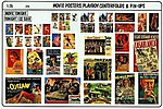 Movie Posters, Playboy Pin -- Plastic Model Random Decal -- 1/35 Scale -- #0274