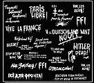 WWII Allied Wall Slogans -- Plastic Model Random Decal -- 1/35 Scale -- #0357