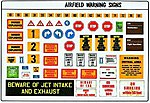 Modern Airbase Signs -- Plastic Model Aircraft Decal -- 1/48 Scale -- #0491