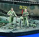 Shallow Grave - Marines WWII -- Resin Model Military Figure Kit -- 1/35 Scale -- #1981