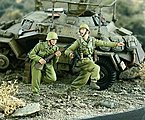 Africa Korps WWII Running -- Resin Model Military Figure Kit -- 1/35 Scale -- #2304