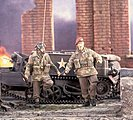 Red Devils Soldiers D-Day/Arnhem -- Resin Model Military Figure Kit -- 1/35 Scale -- #2382