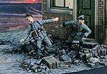 German Officers Ambushed (2) -- Resin Model Military Figure Kit -- 1/35 Scale -- #2424