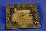 WWII Luftwaffe Revetment Base -- Resin Military Diorama Kit -- 1/72 Scale -- #25