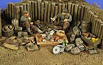 WWII Camping Ground Access & 2 US Infantry -- Resin Military Diorama Kit -- 1/35 Scale -- #2779