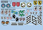 Luftwaffe Geschwader Insignia (13 Designs) -- Plastic Model Aircraft Decal -- 1/32 Scale -- #132015