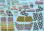 P51D Nose Art, Kill Markings & Checkers for 10 Aircraft -- Decal -- 1/48 Scale -- #148029