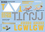 B17Gs Wee Wille, Tondalayo -- Plastic Model Aircraft Decal -- 1/48 Scale -- #148043