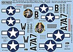 P47D Sleepy Jean the 3rd, Slick Chick -- Plastic Model Aircraft Decal -- 1/48 Scale -- #148059