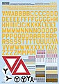 B17 ID Sq. & ID Lettering, Numbers, Bomb -- Plastic Model Aircraft Decals -- 1/72 Scale -- #172006