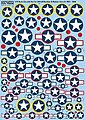 1/72 Cocarde Stars & Bars for USAAF Bombers & Fighters 1921-1946
