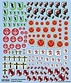 Luftwaffe Fighter Unit Emblems Pt.1 -- Plastic Model Aircraft Decal -- 1/72 Scale -- #172482
