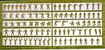 Naval Figures for all Nations (100pc) -- Plastic Model Ship Accessory -- 1/350 Scale -- #3512