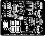 Gato Class Submarine Radars & Antennas Detail Set -- Plastic Model Ship Accessory -- 1/72 -- #7241