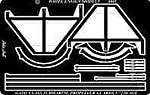 Gato Class Submarine Stern & Propeller Guards -- Plastic Model Ship Accessory -- 1/72 -- #7242