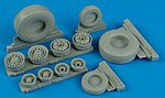 F14D Weighted Wheels for TSM -- Plastic Model Aircraft Accessory -- 1/32 Scale -- #132001