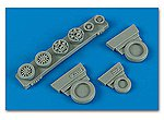 F16C (Block 40/50/60 ) Weighted Wheels -- Plastic Model Aircraft Accessory -- 1/48 -- #148009