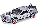 DeLorean Time Machine Back To The Future III (Met. Silver) -- Diecast Model -- 1/24 scale -- #22444