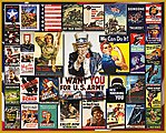 World War II Vintage Posters Collage Puzzle (1000pc)