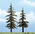 Lodgepole Pines 4-5'' pkg(2) -- Ready Made Premium Trees -- Model Railroad Tree -- #1627
