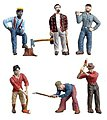 Lumberjacks -- O Scale Model Railroad Figure -- #2735