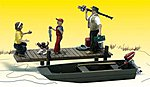 Family Fishing -- HO Scale Model Railroad Figure -- #a1923