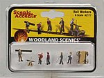 Rail Workers -- N Scale Model Railroad Figure -- #a2177