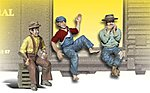 Scenic Accents(R) Figures -- The Bumm Brothers -- G Scale Model Railroad Figure -- #a2548