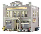 Built-N-Ready -- Harrison's 2-Story Hardware Store -- N Scale Model Railroad Building -- #br4921