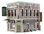 Built-N-Ready -- Corner Emporium 2-Story Building -- N Scale Model Railroad Building -- #br4923