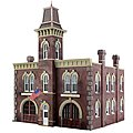 Firehouse -- HO Scale Model Railroad Building -- #br5034