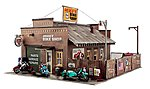 Built-N-Ready Deuce's Cycle Shop -- HO Scale Model Railroad Building -- #br5045