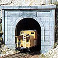 Concrete Single Portals (2) -- N Scale -- Model Railroad Tunnel -- #c1152