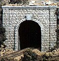Cut Stone Single Portals (2) -- N Scale -- Model Railroad Tunnel -- #c1153