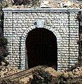 Cut Stone Single Portals (2) -- N Scale -- Model Railroad Tunnel -- #c1153