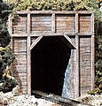 Timber Single Portals (2) -- N Scale -- Model Railroad Tunnel -- #c1154
