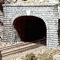 Cut Stone Double Portals (2) -- N Scale -- Model Railroad Tunnel -- #c1157