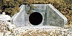 Concrete Culverts (2) -- N Scale -- Model Railroad Miscellaneous Scenery -- #c1162