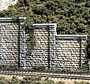 Cut Stone Wing Wall (3) -- HO Scale -- Model Railroad Miscellaneous Scenery -- #c1259