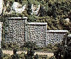 Random Stone Wing Wall (3) -- HO Scale -- Model Railroad Miscellaneous Scenery -- #c1261