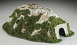 Straight Tunnel -- 9.5 x 14.5 -- N Scale Model Railroad Tunnel -- #c1315