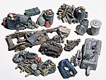 Assorted Junk Piles (10) -- HO Scale Model Railroad Building Accessory -- #d205