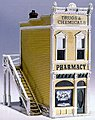 Scenic Details -- Pharmacy Kit -- HO Scale Model Railroad Building -- #d221