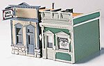 Scenic Details -- Doctor's Office & Shoe Repair Kit -- HO Scale Model Railroad Building -- #d224