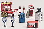 Scenic Detail Kit -- Vending Machines (8) -- HO Scale Model Railroad Building Accessory -- #d230